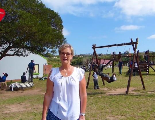 Astrid bedankt voor de vele steun van donateurs voor Zuid-Afrika