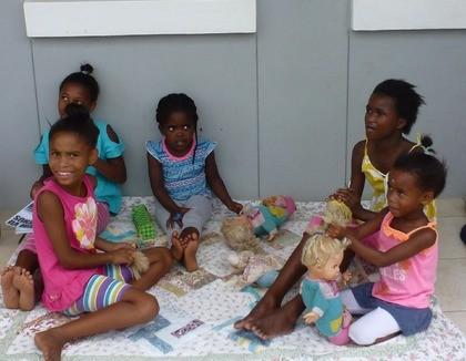 Spelende kinderen in Humansdorp